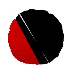 Black And Red Design Standard 15  Premium Flano Round Cushions by Valentinaart