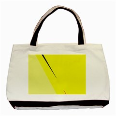 Yellow Design Basic Tote Bag by Valentinaart