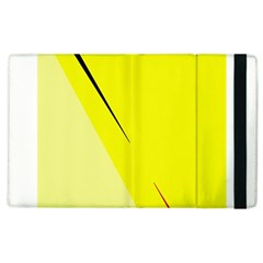 Yellow Design Apple Ipad 3/4 Flip Case by Valentinaart