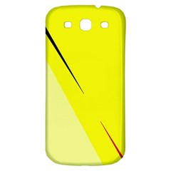 Yellow Design Samsung Galaxy S3 S Iii Classic Hardshell Back Case by Valentinaart