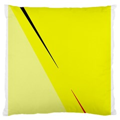 Yellow Design Standard Flano Cushion Case (one Side) by Valentinaart