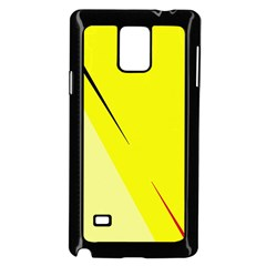 Yellow Design Samsung Galaxy Note 4 Case (black) by Valentinaart