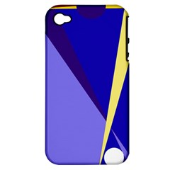 Geometrical Abstraction Apple Iphone 4/4s Hardshell Case (pc+silicone) by Valentinaart