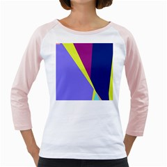Geometrical abstraction Girly Raglans by Valentinaart
