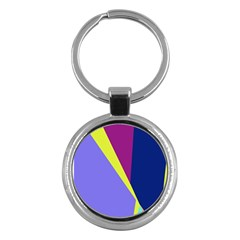 Geometrical Abstraction Key Chains (round)  by Valentinaart