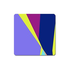 Geometrical Abstraction Square Magnet by Valentinaart