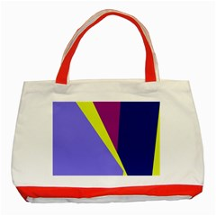 Geometrical Abstraction Classic Tote Bag (red) by Valentinaart