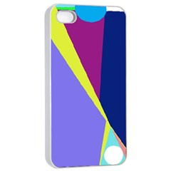 Geometrical Abstraction Apple Iphone 4/4s Seamless Case (white) by Valentinaart