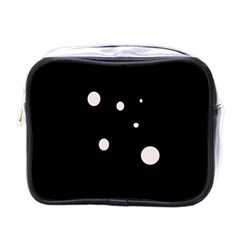White Dots Mini Toiletries Bags by Valentinaart