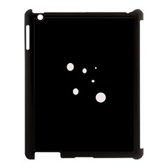 White Dots Apple Ipad 3/4 Case (black) by Valentinaart