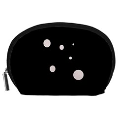White Dots Accessory Pouches (large)  by Valentinaart