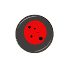 Red Circle Hat Clip Ball Marker by Valentinaart