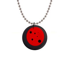 Red Circle Button Necklaces by Valentinaart
