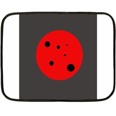 Red Circle Fleece Blanket (mini) by Valentinaart