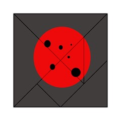 Red circle Acrylic Tangram Puzzle (6  x 6 ) by Valentinaart