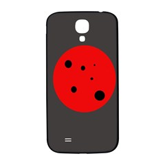 Red Circle Samsung Galaxy S4 I9500/i9505  Hardshell Back Case by Valentinaart