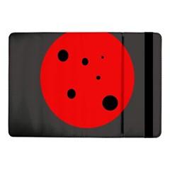 Red circle Samsung Galaxy Tab Pro 10.1  Flip Case by Valentinaart