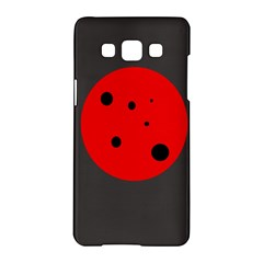 Red Circle Samsung Galaxy A5 Hardshell Case  by Valentinaart