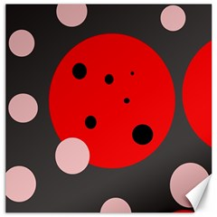Red And Pink Dots Canvas 20  X 20   by Valentinaart