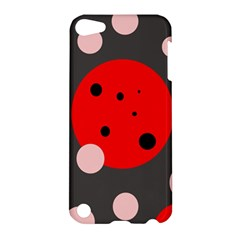 Red And Pink Dots Apple Ipod Touch 5 Hardshell Case by Valentinaart