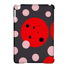 Red And Pink Dots Apple Ipad Mini Hardshell Case (compatible With Smart Cover) by Valentinaart