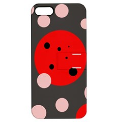 Red And Pink Dots Apple Iphone 5 Hardshell Case With Stand by Valentinaart