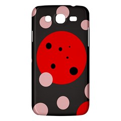 Red And Pink Dots Samsung Galaxy Mega 5 8 I9152 Hardshell Case  by Valentinaart