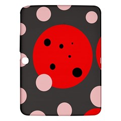 Red And Pink Dots Samsung Galaxy Tab 3 (10 1 ) P5200 Hardshell Case  by Valentinaart
