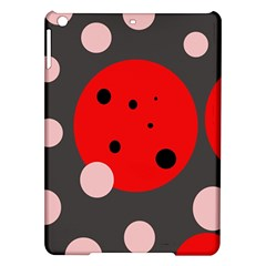 Red And Pink Dots Ipad Air Hardshell Cases by Valentinaart