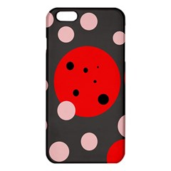 Red And Pink Dots Iphone 6 Plus/6s Plus Tpu Case by Valentinaart