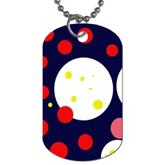 Abstract Moon Dog Tag (two Sides) by Valentinaart