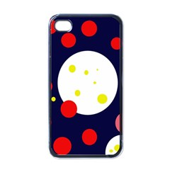 Abstract Moon Apple Iphone 4 Case (black) by Valentinaart