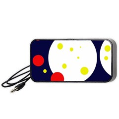 Abstract Moon Portable Speaker (black)  by Valentinaart