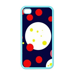 Abstract Moon Apple Iphone 4 Case (color) by Valentinaart