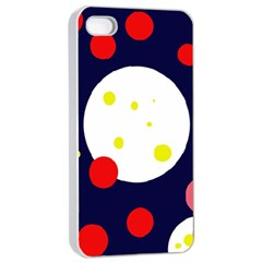 Abstract Moon Apple Iphone 4/4s Seamless Case (white) by Valentinaart