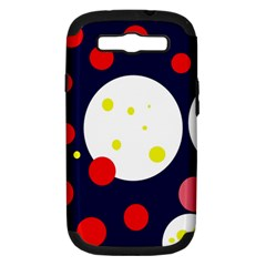 Abstract moon Samsung Galaxy S III Hardshell Case (PC+Silicone) by Valentinaart