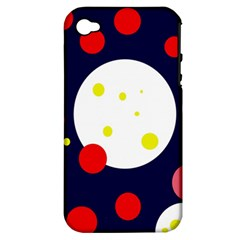 Abstract Moon Apple Iphone 4/4s Hardshell Case (pc+silicone) by Valentinaart