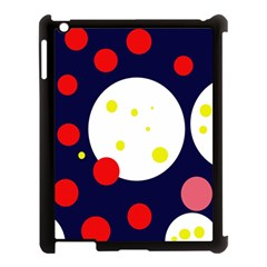 Abstract Moon Apple Ipad 3/4 Case (black) by Valentinaart