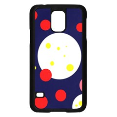 Abstract Moon Samsung Galaxy S5 Case (black) by Valentinaart