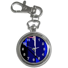 Blue Abstraction Key Chain Watches by Valentinaart