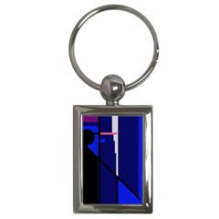 Blue Abstraction Key Chains (rectangle)  by Valentinaart