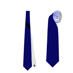 Blue Abstraction Neckties (two Side)  by Valentinaart
