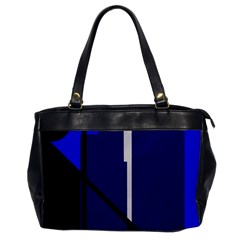 Blue Abstraction Office Handbags by Valentinaart