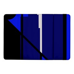 Blue Abstraction Samsung Galaxy Tab Pro 10 1  Flip Case by Valentinaart