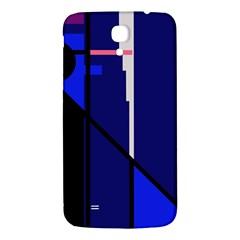 Blue Abstraction Samsung Galaxy Mega I9200 Hardshell Back Case by Valentinaart