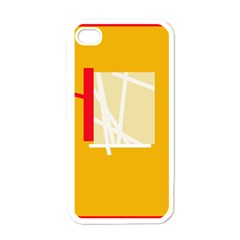 Basketball Apple Iphone 4 Case (white) by Valentinaart