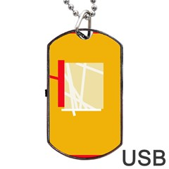 Basketball Dog Tag Usb Flash (two Sides)  by Valentinaart