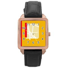 Basketball Rose Gold Leather Watch  by Valentinaart