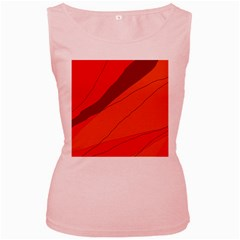 Red and orange decorative abstraction Women s Pink Tank Top by Valentinaart