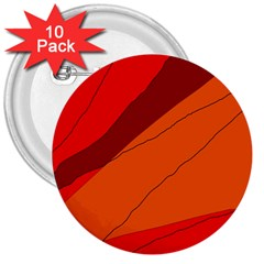Red And Orange Decorative Abstraction 3  Buttons (10 Pack)  by Valentinaart